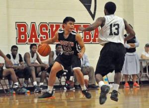Point Guard Loren Brill in the Nov. 13 game against Redemption Christian Academy. LMW photo