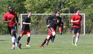 Anthony Camardi was one of the alumni soccer players who returned in 2015 and will play again this year.