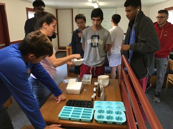 Creating eco-friendly soaps in new CFI class
